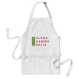 Alpha Gamma Delta Stacked Standard Apron