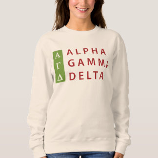 Alpha Gamma Delta Stacked Sweatshirt