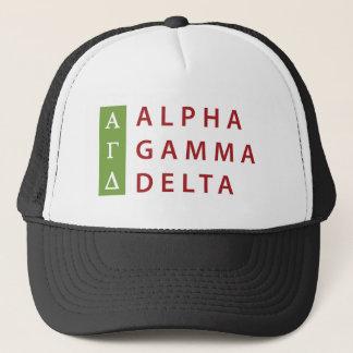 Alpha Gamma Delta Stacked Trucker Hat