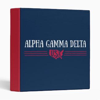 Alpha Gamma Delta USA 3 Ring Binder