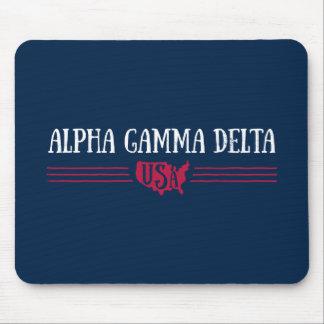 Alpha Gamma Delta USA Mouse Pad