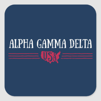 Alpha Gamma Delta USA Square Sticker