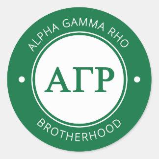 Alpha Gamma Rho | Badge Classic Round Sticker