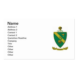 Alpha Gamma Rho Official Coat of Arms Pack Of Standard Business Cards