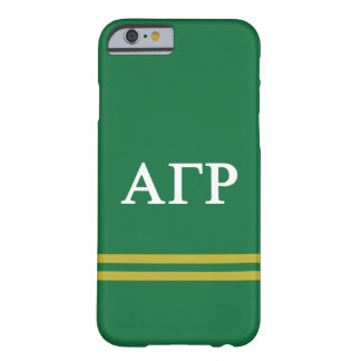 Alpha Gamma Rho | Sport Stripe Barely There iPhone 6 Case