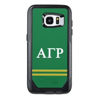 Alpha Gamma Rho | Sport Stripe OtterBox Samsung Galaxy S7 Edge Case