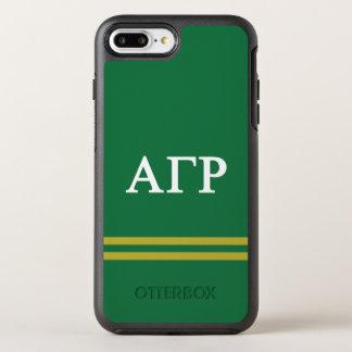 Alpha Gamma Rho | Sport Stripe OtterBox Symmetry iPhone 8 Plus/7 Plus Case