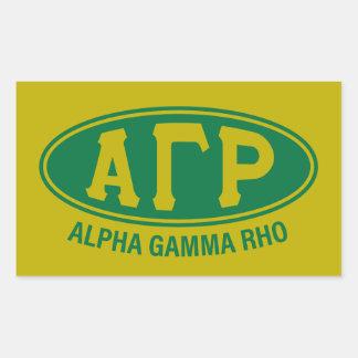 Alpha Gamma Rho | Vintage Sticker