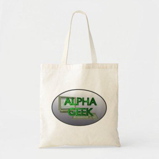 Alpha geek sacs en toile