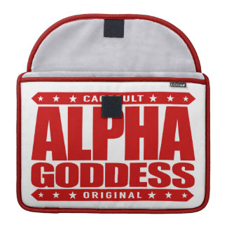ALPHA GODDESS - Worship My Divine Feminine, Red Sleeve For MacBook Pro