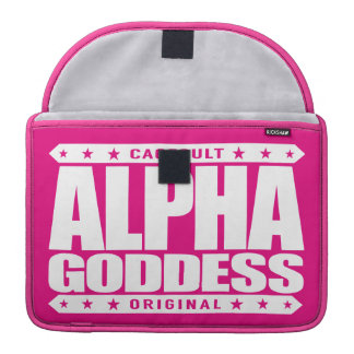 ALPHA GODDESS - Worship My Divine Feminine, White MacBook Pro Sleeve