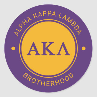 Alpha Kappa Lambda | Badge Classic Round Sticker