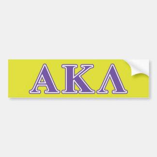 Alpha Kappa Lambda Purple Letters Bumper Stickers