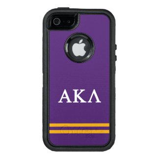 Alpha Kappa Lambda | Sport Stripe OtterBox Defender iPhone Case