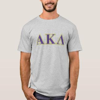 Alpha Kappa Lambda White and Purple Letters T-Shirt