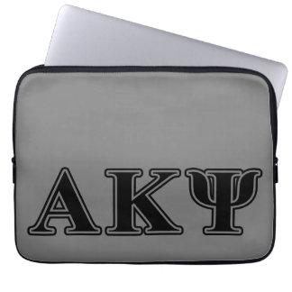 Alpha Kappa Psi Black Letters Laptop Sleeve
