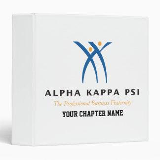 Alpha Kappa Psi Name and Logo Vinyl Binder