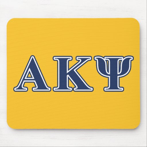Alpha Kappa Psi Navy Letters Mouse Pad