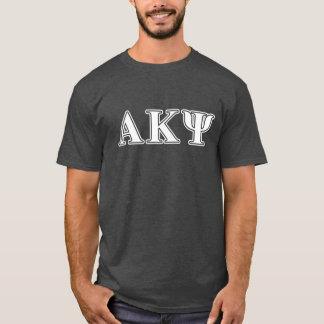 Alpha Kappa Psi White and Navy Letters T-Shirt
