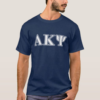 Alpha Kappa Psi White and Yellow Letters T-Shirt
