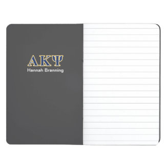 Alpha Kappa Psi Yellow and Navy Letters Journal