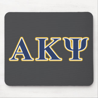 Alpha Kappa Psi Yellow and Navy Letters Mouse Pad