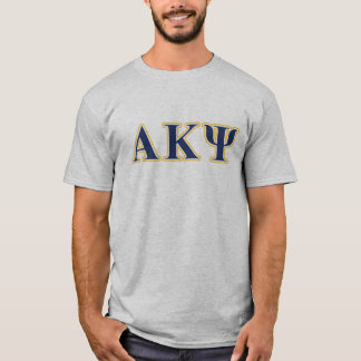 Alpha Kappa Psi Yellow and Navy Letters T-Shirt