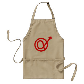 Alpha Male Sign Standard Apron