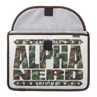 ALPHA NERD - Army of Intellectual Warriors, Camo Sleeves For MacBooks