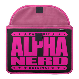 ALPHA NERD - Army of Intellectual Warriors, Pink Sleeves For MacBooks