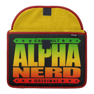 ALPHA NERD - Army of Intellectual Warriors, Rasta Sleeve For MacBooks