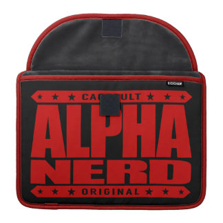 ALPHA NERD - Army of Intellectual Warriors, Red Sleeve For MacBooks