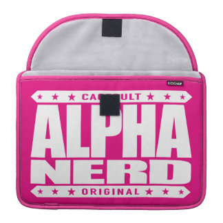 ALPHA NERD - Army of Intellectual Warriors, White MacBook Pro Sleeve