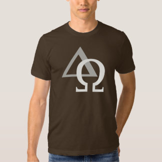 Alpha & Omega 3 White Gray TRANS png Tee Shirts