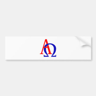 Alpha omega bumper sticker