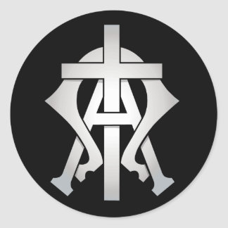 Alpha & Omega Classic Round Sticker