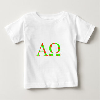 Alpha Omega Green and Red Bright Design Baby T-Shirt