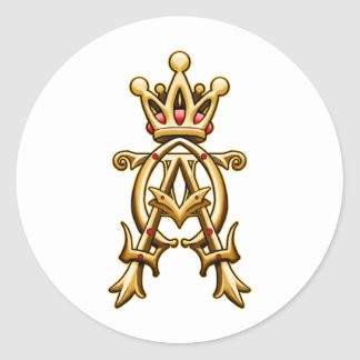 Alpha Omega King of Kings Design Classic Round Sticker
