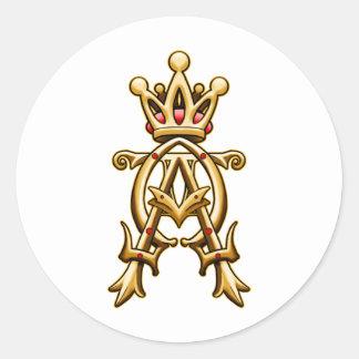 Alpha Omega King of Kings Design Round Sticker