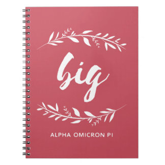 Alpha Omicron Pi Big Wreath Notebook