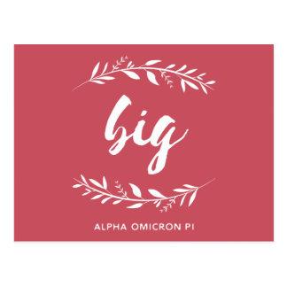 Alpha Omicron Pi Big Wreath Postcard