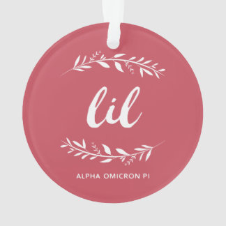 Alpha Omicron Pi Lil Wreath Ornament