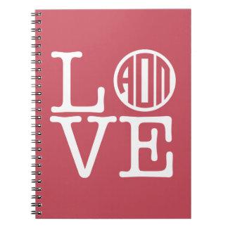 Alpha Omicron Pi Love Notebook