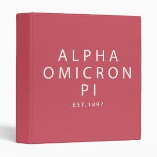 Alpha Omicron Pi Modern Type Binder