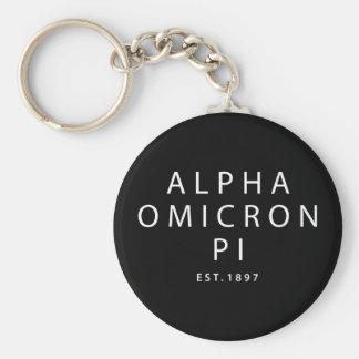 Alpha Omicron Pi Modern Type Keychain