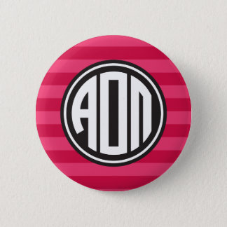 Alpha Omicron Pi | Monogram Stripe Pattern 2 Inch Round Button