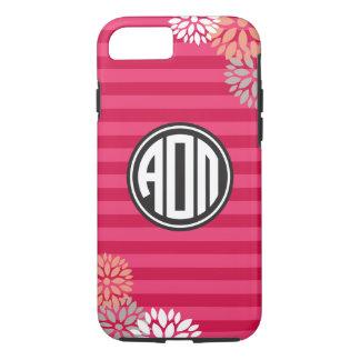 Alpha Omicron Pi | Monogram Stripe Pattern iPhone 8/7 Case