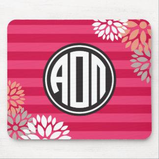 Alpha Omicron Pi | Monogram Stripe Pattern Mouse Pad