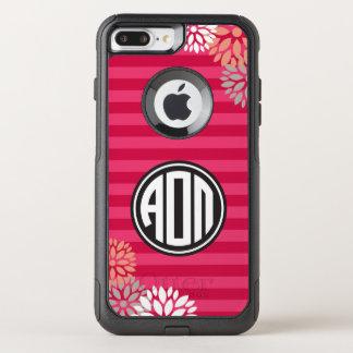 Alpha Omicron Pi | Monogram Stripe Pattern OtterBox Commuter iPhone 8 Plus/7 Plus Case