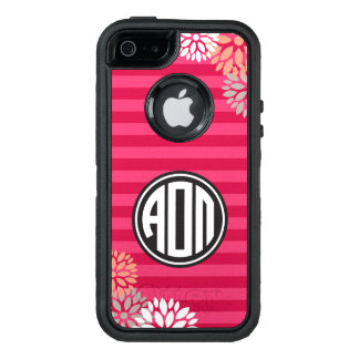 Alpha Omicron Pi | Monogram Stripe Pattern OtterBox Defender iPhone Case